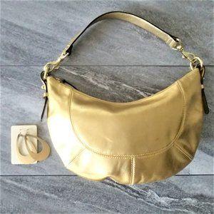 Lauren Ralph Lauren Gold Leather Handbag
